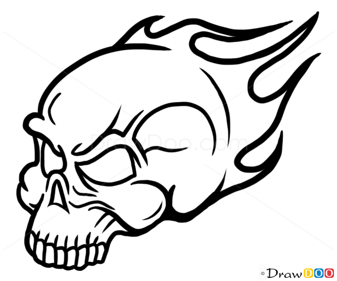How to Draw Rider Skull, Tattoo Skulls