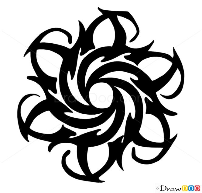 Tribal Tattoo Line Drawing : How to draw tribal tattoo tattoos