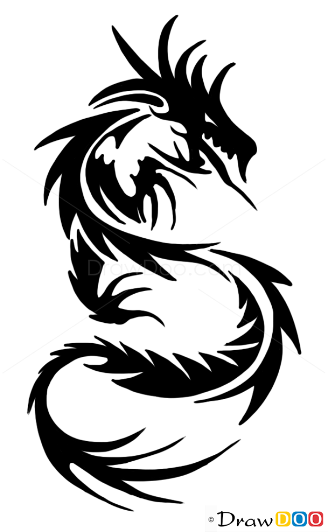 how to draw chinese dragon tribal tattoos. Black Bedroom Furniture Sets. Home Design Ideas