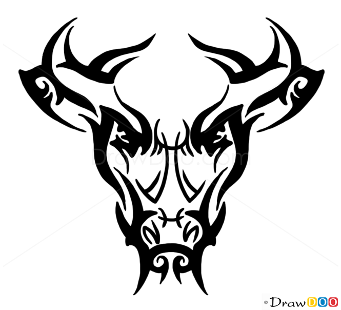 how to draw deer tribal tattoos. Black Bedroom Furniture Sets. Home Design Ideas