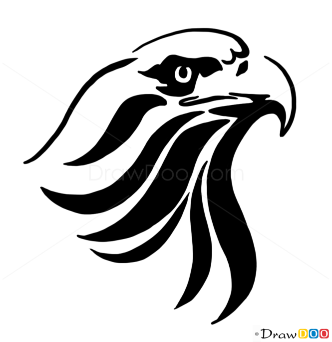 How to Draw Eagle, Tribal Tattoos