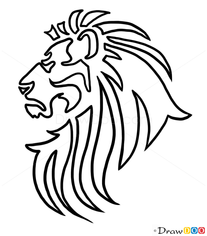How to Draw Lion, Tribal Tattoos