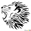 How To Draw Roaring Lion Tribal Tattoos