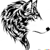 How to Draw Wolf, Tribal Tattoos
