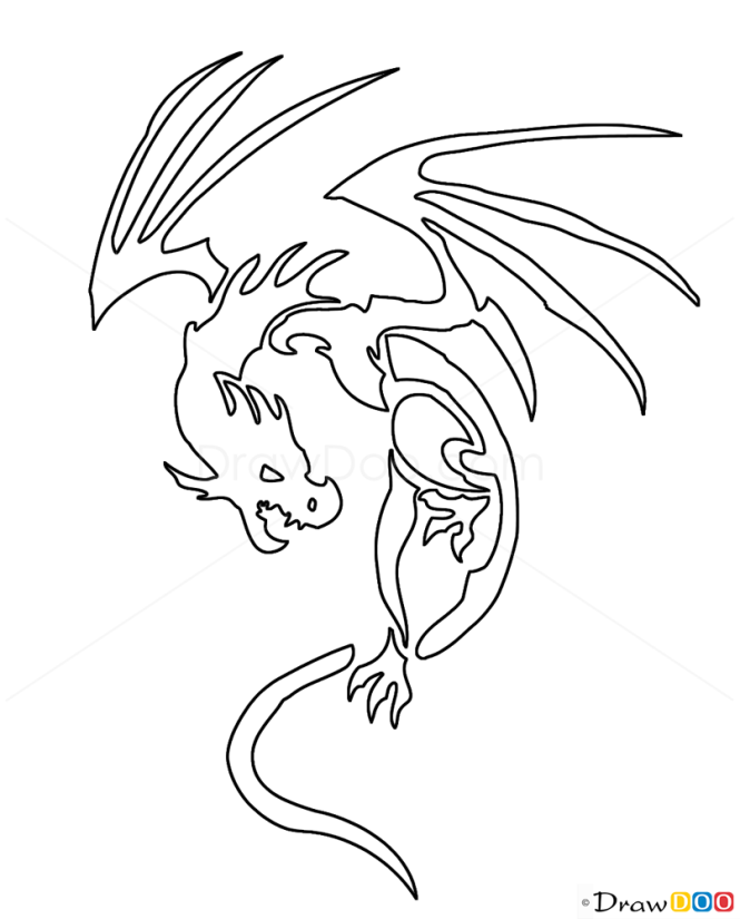 How to Draw Ugly Dragon, Tribal Tattoos