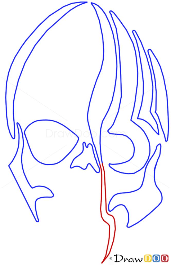 How to Draw Zombie Skull, Tribal Tattoos