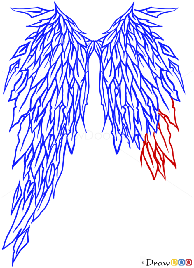 How to Draw Angel Wings, Tribal Tattoos