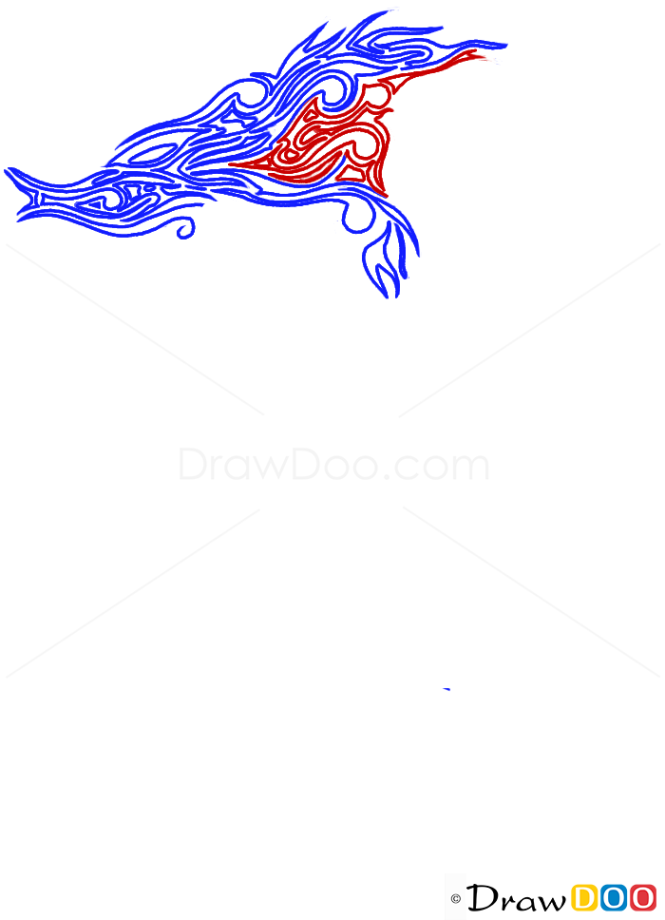 How to Draw Sea Horse, Tribal Tattoos