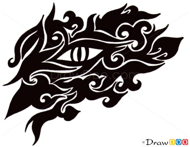 How to Draw Eye, Tribal Tattoos