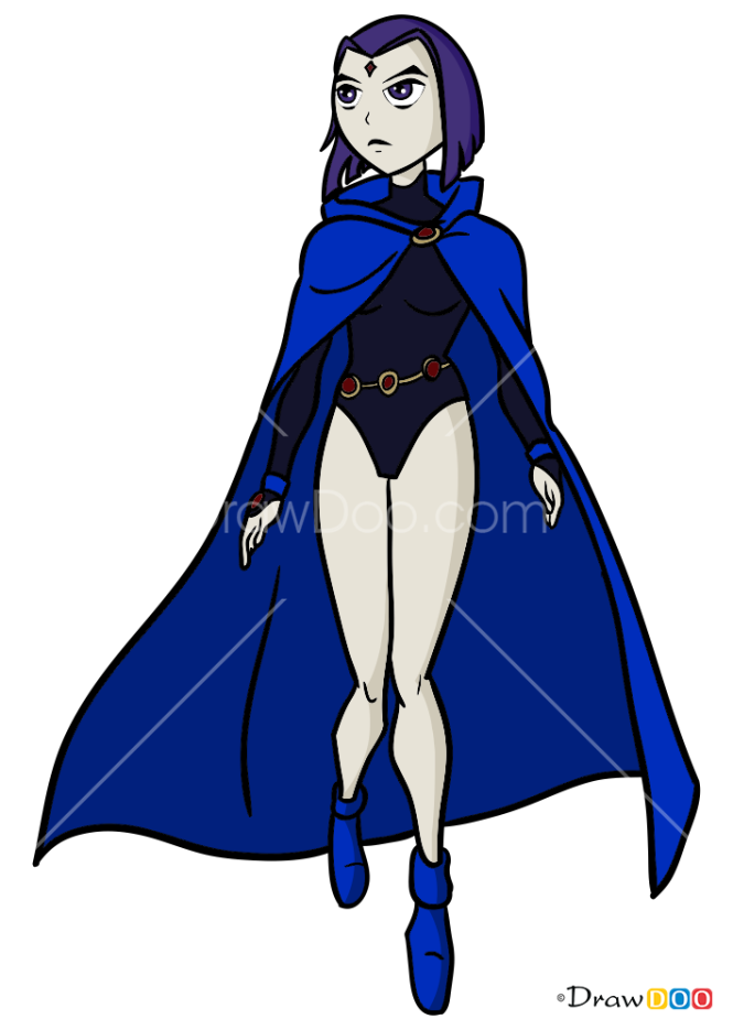How to Draw Raven, Teen Titans