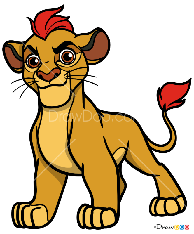 How to Draw Kion, The Lion Guard