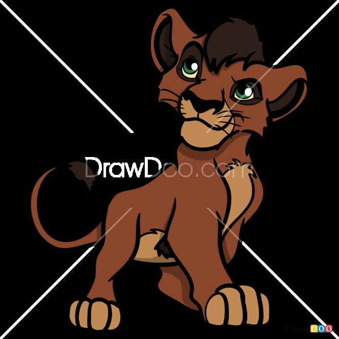 How to Draw Kovu, The Lion Guard