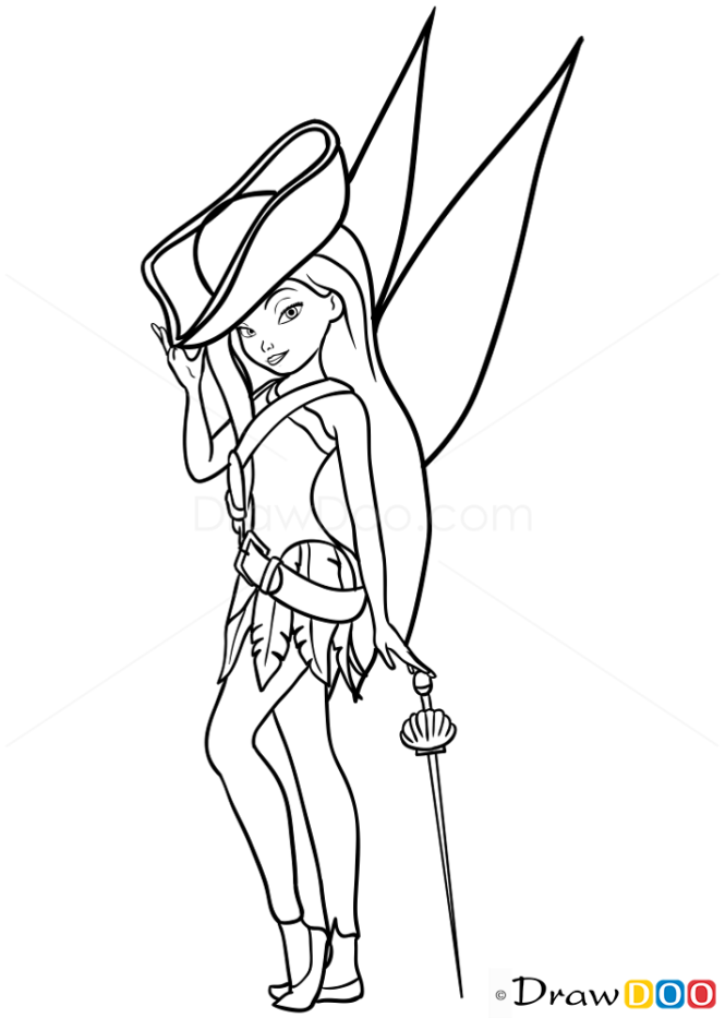 How to Draw Fast Flying Fairy, Tinker Bell