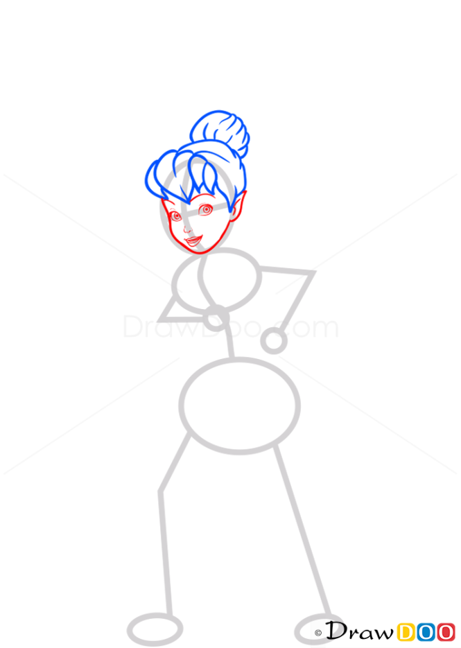 How to Draw Water Fairy, Tinker Bell