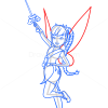 How to Draw Light Fairy, Tinker Bell