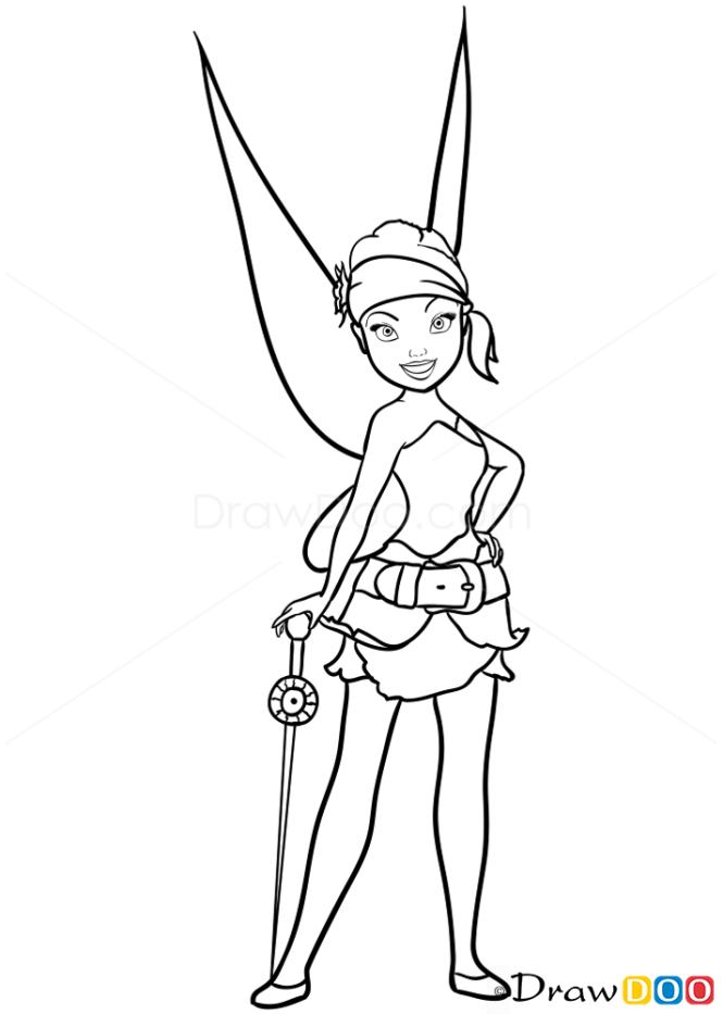 How to Draw Garden Fairy, Tinker Bell