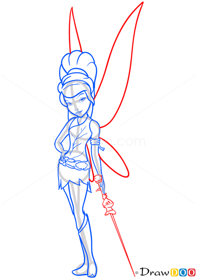 How to Draw Tinker Fairy, Tinker Bell