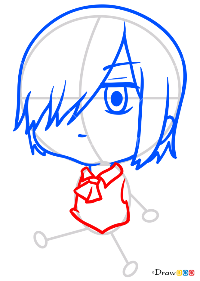 How to Draw Touka Chibi, Tokyo Ghoul