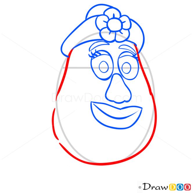How to Draw Mrs. Potato Head, Toy Story