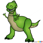 How to Draw Rex, Toy Story
