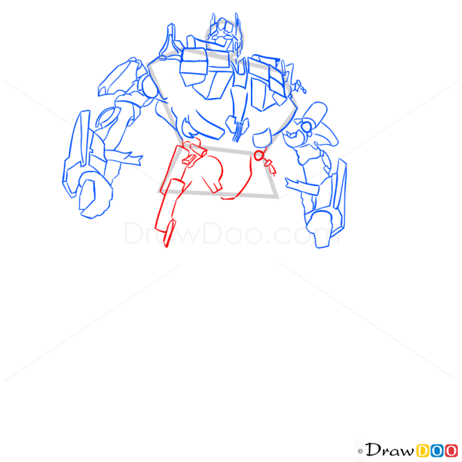 How to Draw Optimus Prime, Transformers