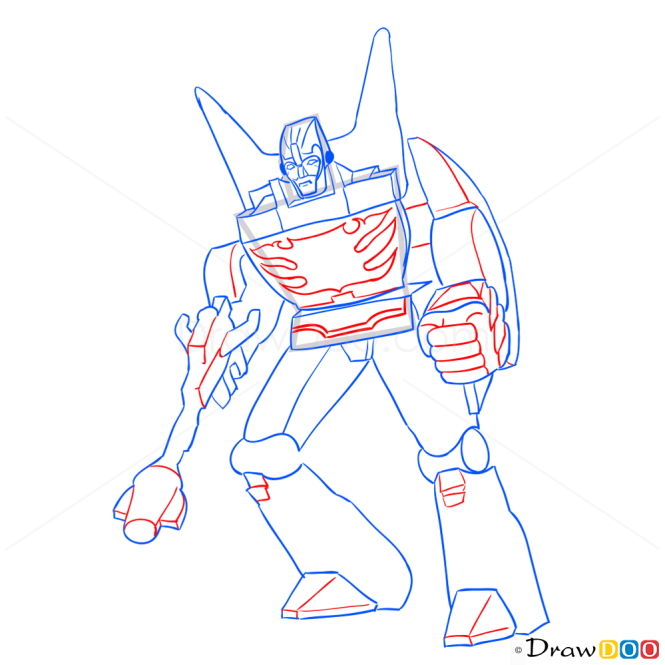 How to Draw Rodimus Prime, Transformers