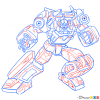 How to Draw Sunstreaker, Transformers