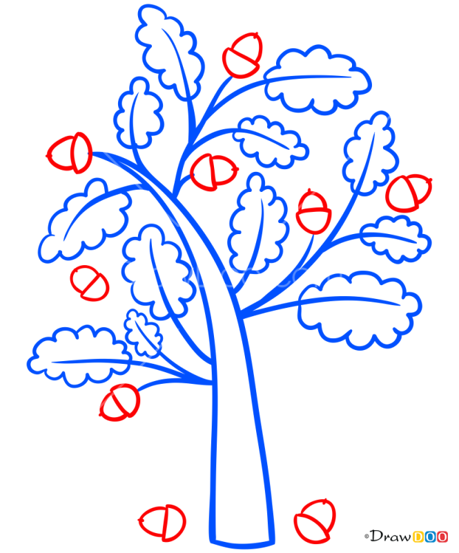 How to Draw Oak-Tree, Trees