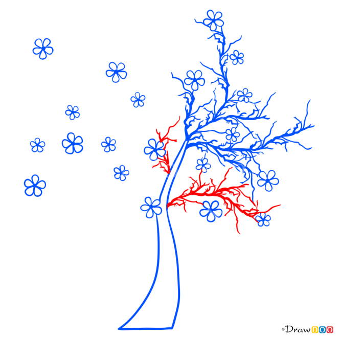 How to Draw Sakura, Trees