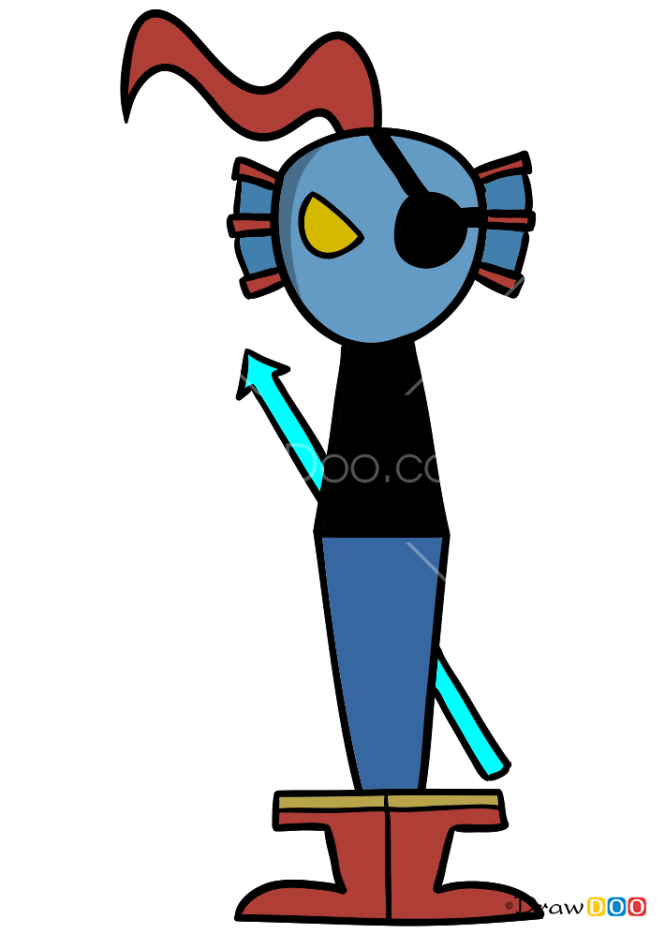 How to Draw Undyne, Undertale