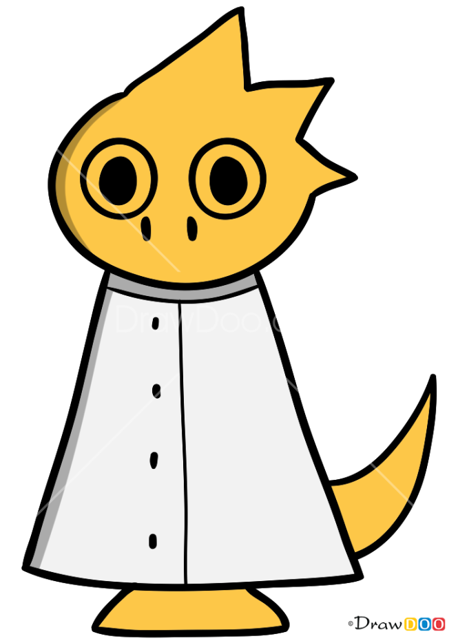 How to Draw Alphys, Undertale