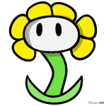 How to Draw Flowery, Undertale