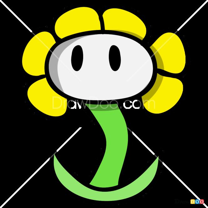 How to Draw Flowery, Undertale