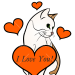 How to Draw Adorable Cat, Valentines