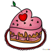 How to Draw Valentines Cake, Valentines