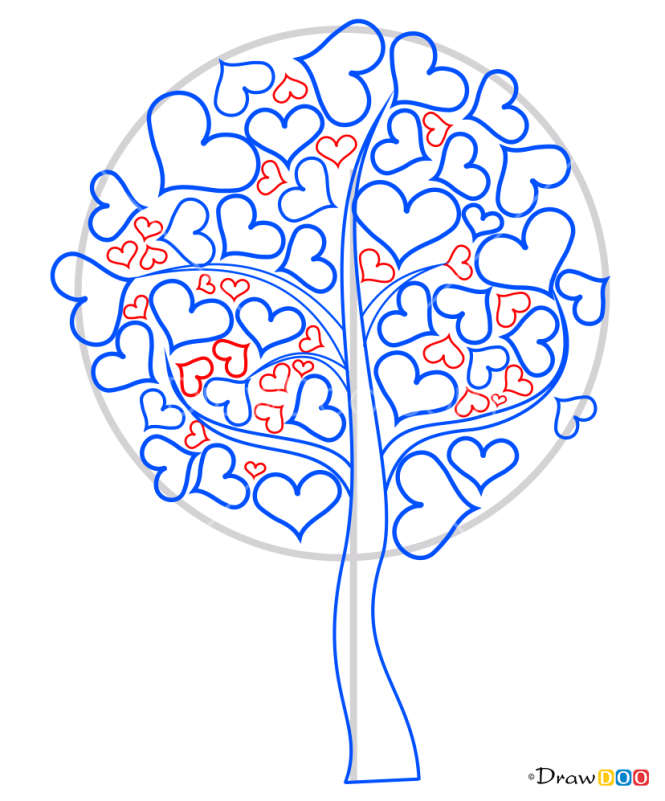 How to Draw Love Tree, Valentines