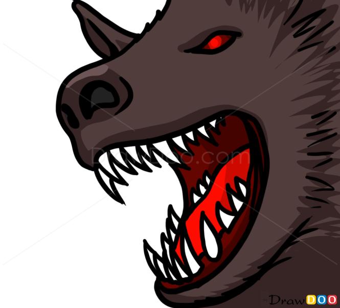 How to Draw Werewolf Face, Vampires and Werewolfs