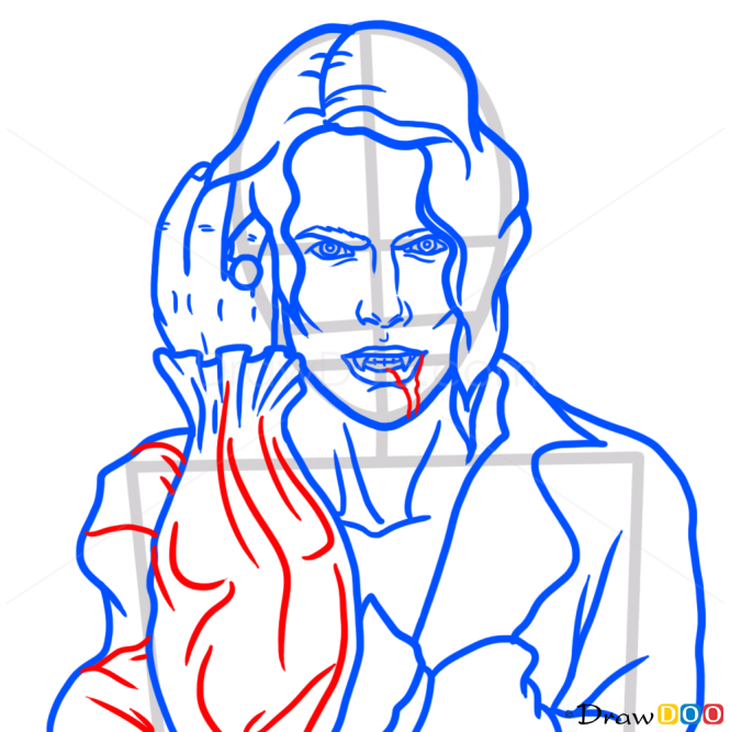 How to Draw Lestat, Interview With The Vampire, Vampires and Werewolfs