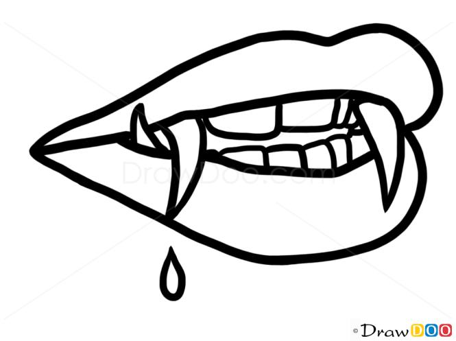 How To Draw Halloween Vampire Teeth Vampires And Werewolfs