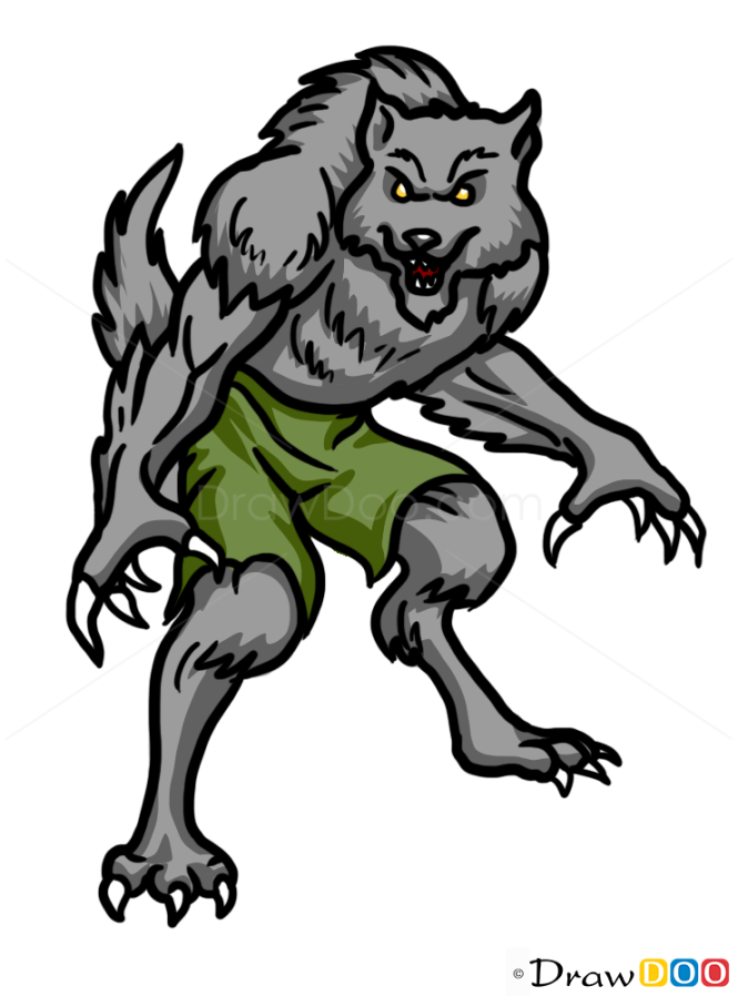 easy drawings of werewolves - photo #39