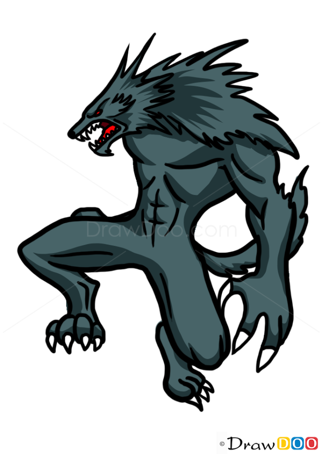 How to Draw Werewolf and Moon, Vampires and Werewolfs