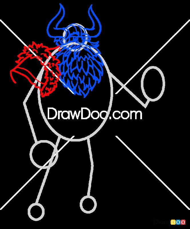 How To Draw Cartoon Viking Vikings
