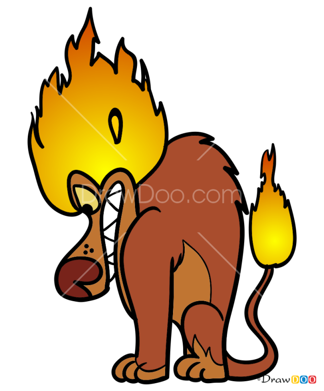 How to Draw Fire Lion, Wander Over Yonder