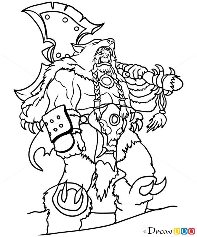 How to Draw Durotan, Warcraft