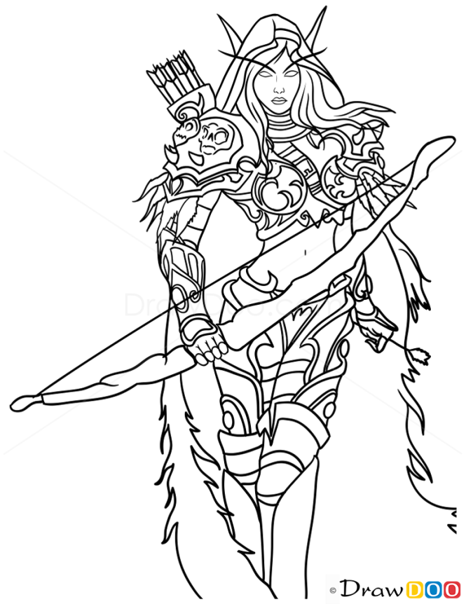 How to Draw Sylvanus Windrunner, Warcraft