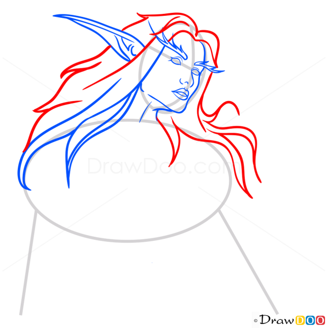 How to Draw Tyranda Wisperwind, Warcraft