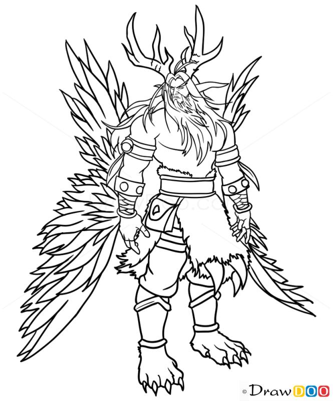 How to Draw Malfurion Stormrage, Warcraft