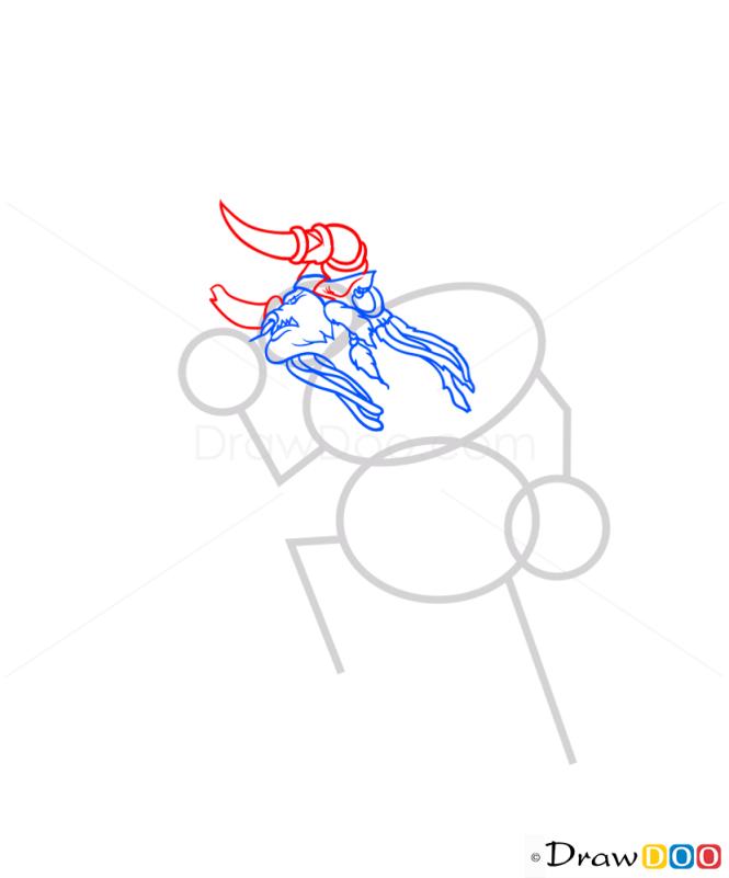 How to Draw Baine Bloodhoof, Warcraft