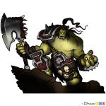 How to Draw Grom Hellscream, Warcraft