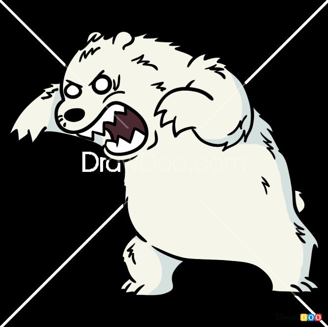 How to Draw Angry Ice Bear, We Bare Bears